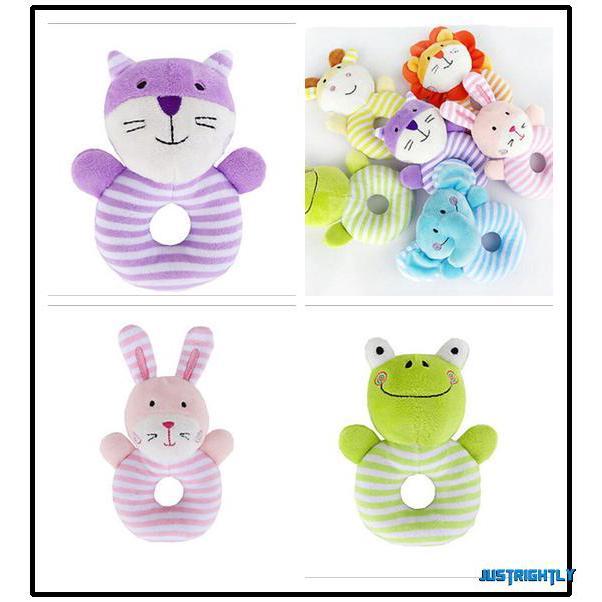 Jry₪Cute New Plush Crib Stroller Baby Pram Rattle Hanging Rabbit Bear Bed Bells Rattle Toys Gift