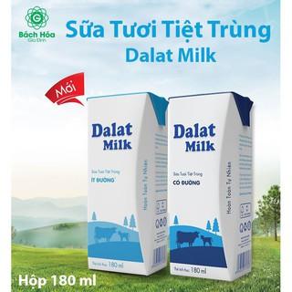 Sữa Tươi Tiệt Trùng Dalatmilk Hộp 180ml(48 hộp) – TH17