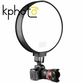 KP 40Cm Round Universal Portable Speedlight Softbox Flash Diffuser On-Top Soft Box For Camera
