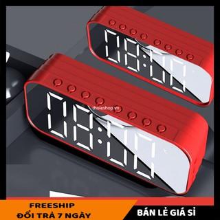Loa nghe nhạc mini để bàn SALE ️ Loa Bluetooth mặt gương sang trọng nghe nhạc hay pin lâu 9510