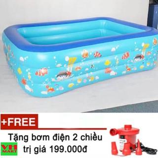 bể bơi loại dày 260x168x66 cm 3 tầng cho trẻ