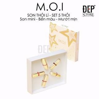 Son Thỏi Mini - Set 5 Thỏi Love M.O.I Mini Hồ Ngọc Hà - Golden Gift