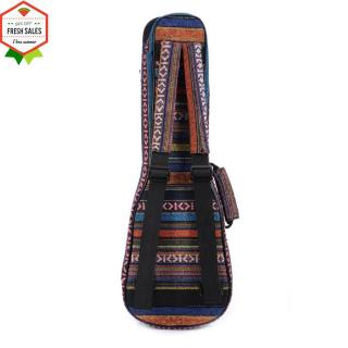 21/23/26 Ethnic Knitting Style Ukulele Bag Backpack Double Shoulder Strap Cotton Padded Ukelele