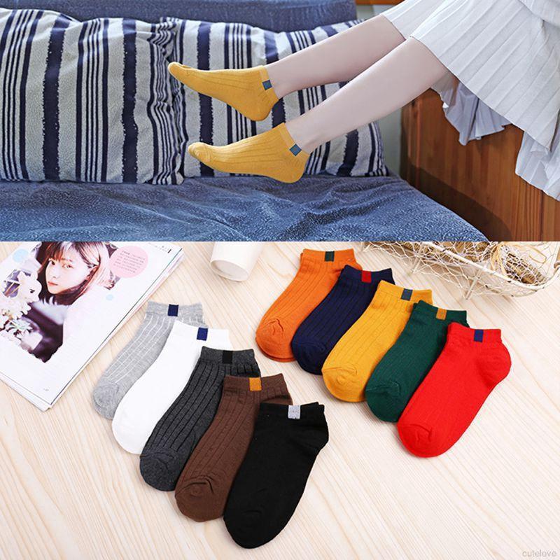 Vớ nữ chất liệu cotton thoáng khí khử mùi nhiều màu xinh xắn tuỳ chọn