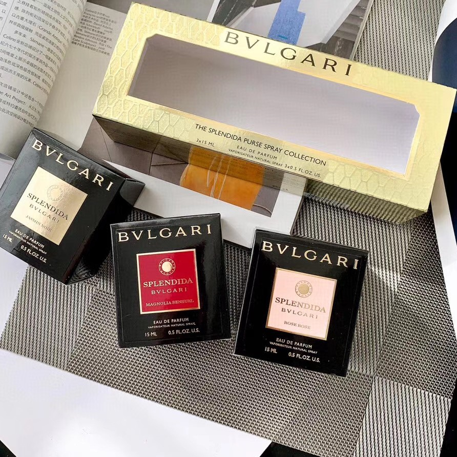 Bvlgari Flower God Series Perfume 3 Piece Set 15ml น้ำหอม Jasmine Magnolia Rose          Bvlgari Flower God Series Perfume 3 Piece Set 15ml Jasmine Magnolia Rose Perfume