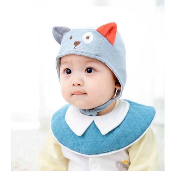 Mũ hình thú có dây buộc cho bé dưới 1 tuổi. Mũ nón đội ấm đầu cho bé trai bé gái. Mũ nón mùa đông cho bé