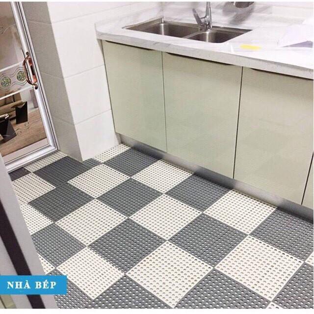 Thảm nhựa lỗ kháng khuẩn , chống trơn trượt nhà tắm nhà bếp 30*30cmm