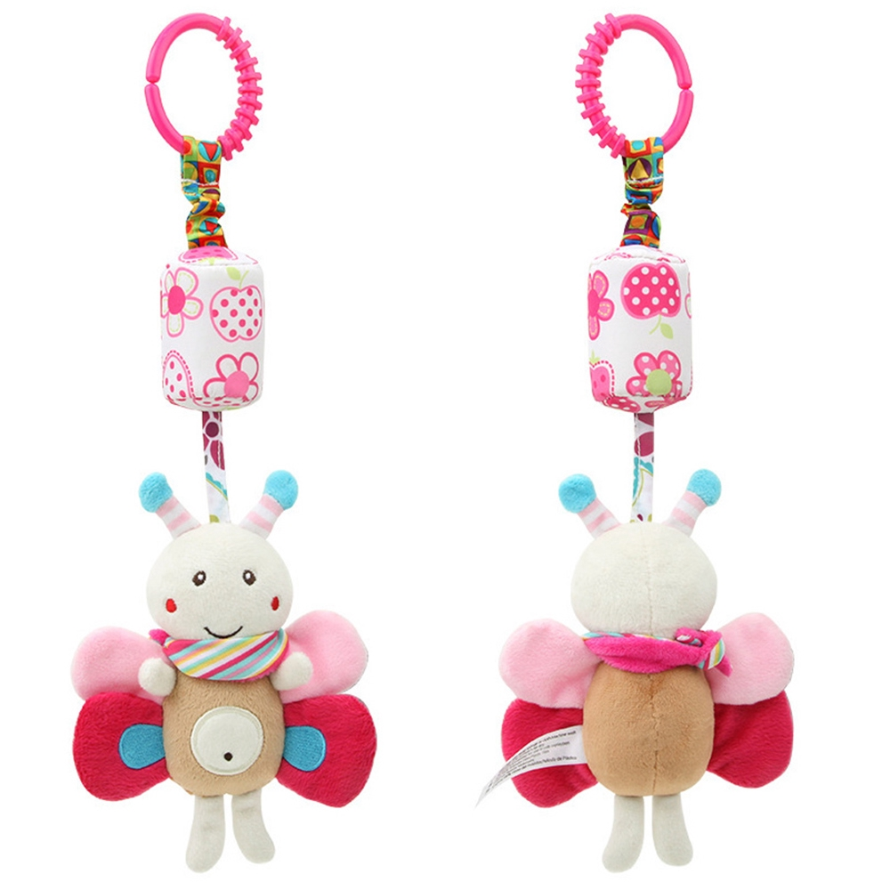 Cute 0-12 Months Baby infant Early educational Cartoon animal Hanging Rattle