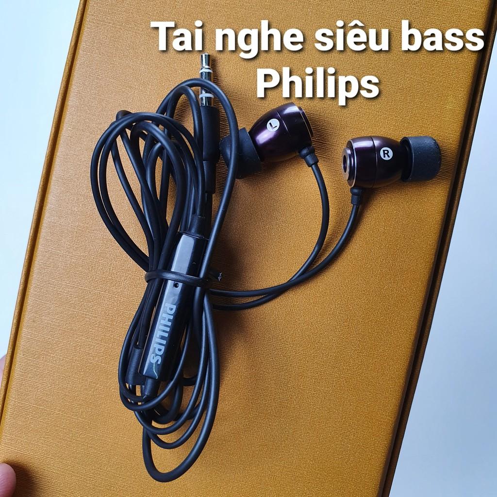 Tai nghe nhét trong tai Philips SHE âm bass siêu khủng hay nhất trong tầm  giá 100k giảm tiếp 109,000đ