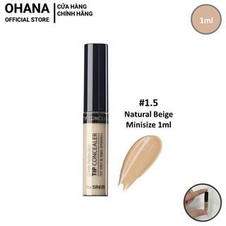 [Minisize 1ml] Kem che khuyết điểm hoàn hảo The Saem Cover Perfection Tip Concealer 1.5 Natural Beige - 1ml thumbnail