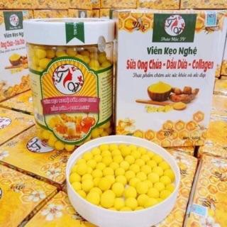 COMBO 2 Viên Kẹo Nghệ Sữa Ong chúa-Dầu Dừa-Colagen