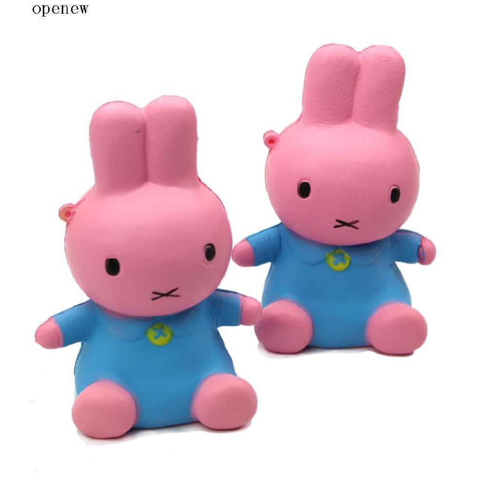 op New Kids Children Soft Squishy Simulation Cartoon Rabbit Shape Scented Slow Rising Toys