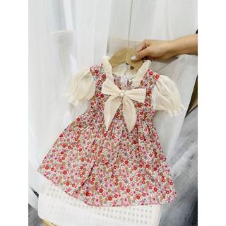( bán sỉ ) váy hoa nhí phối cổ ren cao cấp siêu đẹp nha (14-26 kg)