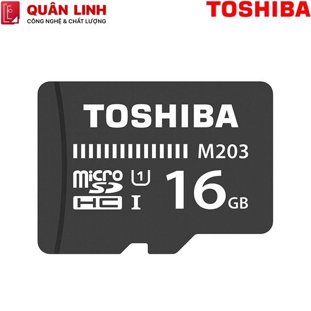 [Mã ELFLASH5 giảm 20K đơn 50K] Thẻ nhớ MicroSDHC 16GB Class 10 UHS-I 100MB/s Toshiba hàng FPT