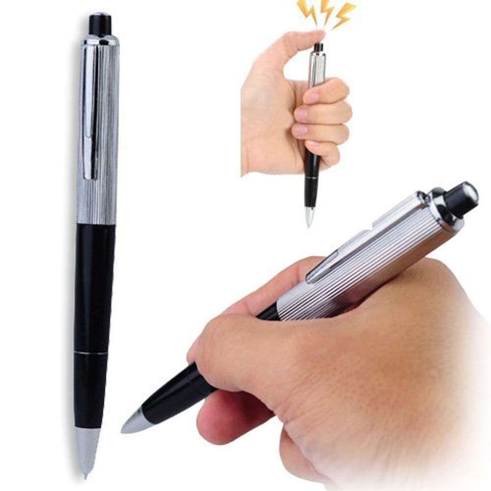 Uk Electric Shock Toy Ball Point Pen Shocking Gift Joke Prank Trick Fun Writable