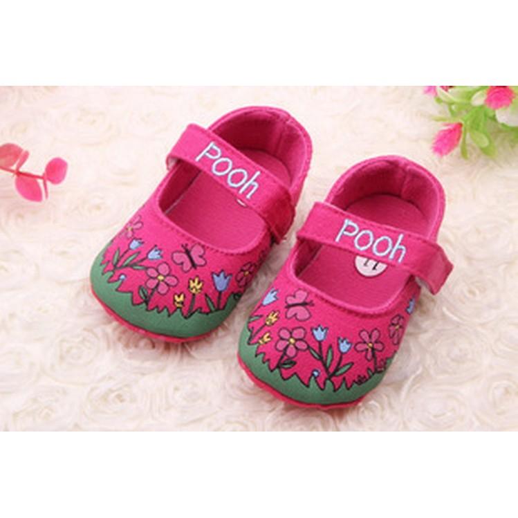 Giày tập đi bé gái mũi tròn đế mềm