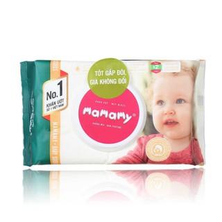 ( Có mã quét QR) Khăn ướt Mamamy 100 tờ( Mẫu mới) có nắp, không mùi