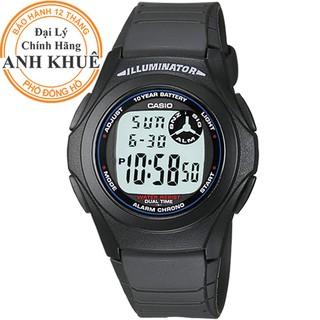 [Mã FASHIONRNK giảm 10K đơn 50K] Đồng hồ unisex dây nhựa Casio Anh Khuê F-200W-1ADF thumbnail