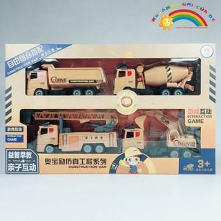 Đồ Chơi Trẻ Em Hộp 4 xe công trình xây dựng KB1327 [ĐỒ CHƠI TRÍ TUỆ]