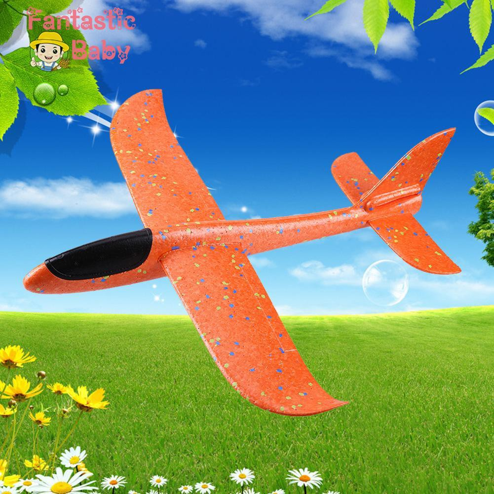 BABY Airplane Children Kids Manual Throwing Outdoor Sport Model Hand Glider Colorful