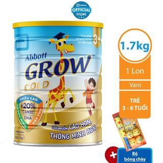 [Tặng Bộ bóng chày] Sữa bột Abbott Grow Gold 3 1.7kg