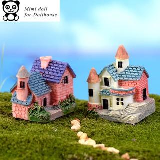 02 Lâu đài trang trí nhà búp bê tiểu cảnh cao 2.5 cm Minidoll