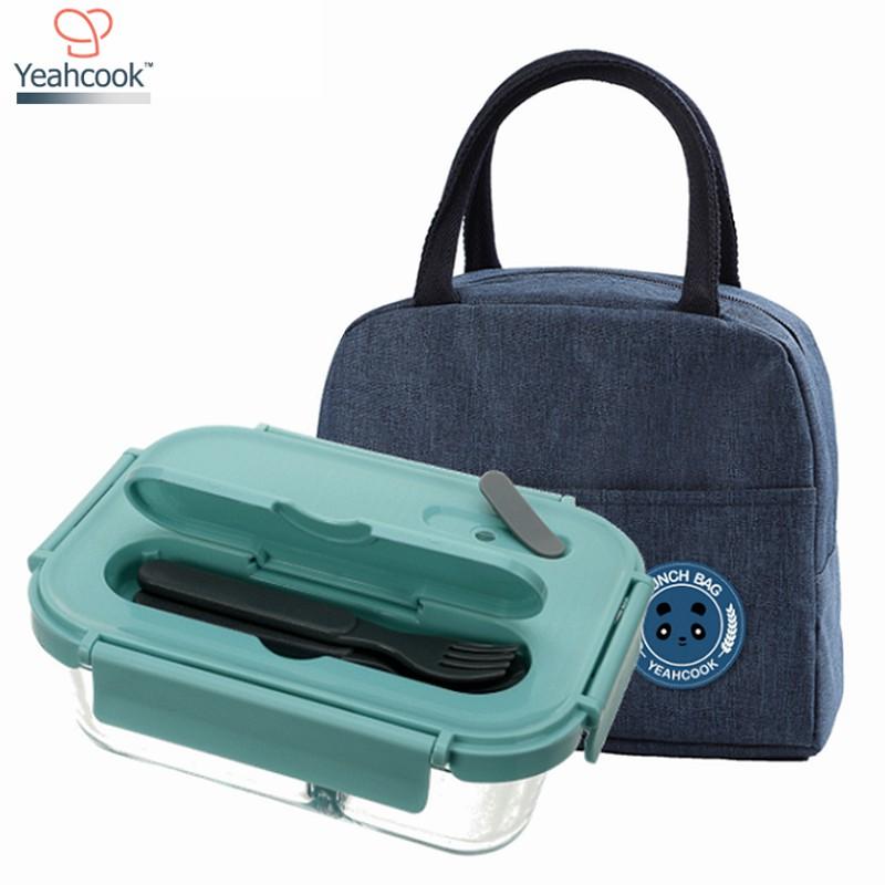 Bộ hộp cơm thủy tinh Yeahcook Glass Lunch Box