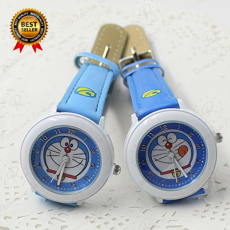Đồng hồ thạch anh dây da hình Doraemon thumbnail