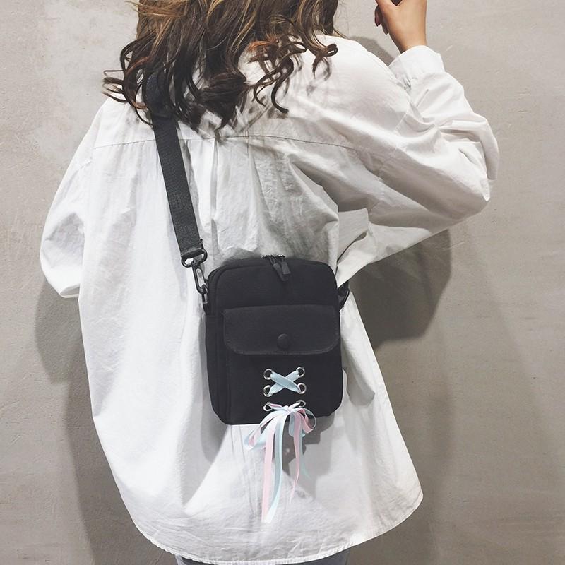 Canvas small bag female bag new 2019 girl mini cute small sq