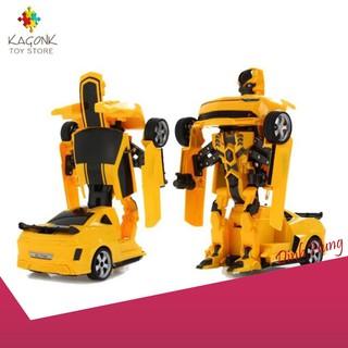 [SIÊU PHẨM] Đồ chơi ô tô biến hình thành Robot – chạy pin – phát nhạc siêu bền