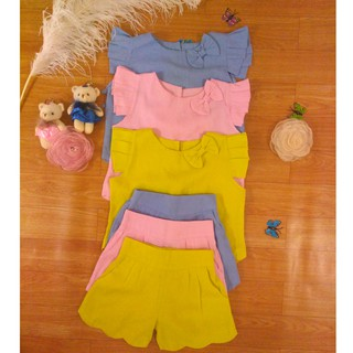 Đồ bộ mặc đi chơi và ở nhà cho bé rất thoải mái chất liệu vải lanh mát mẻ