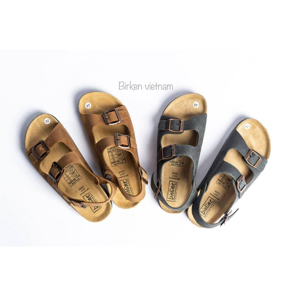 Giày quai hậu sandal da bò unisex xuất khẩu châu âu  mã D02