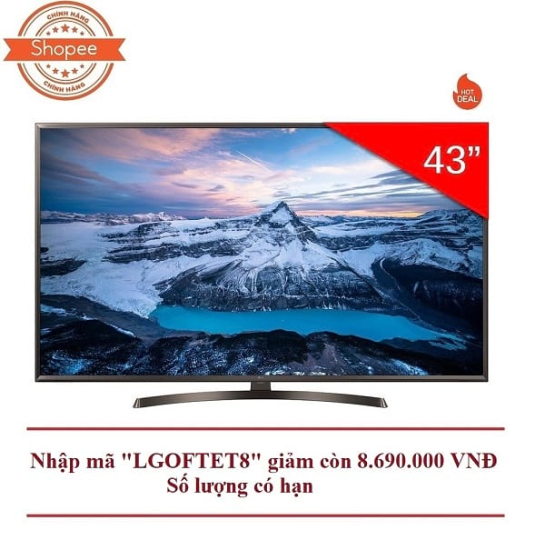 Smart Tivi LG 43 inch 4K UHD 43UK6340PTF (Có Magic Remote)