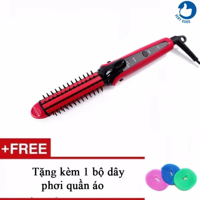 Máy là tóc dập xù lược điện 8890 + tặng kèm 1 cuộn dây phơi đa năng VRG009059 - vrg1117