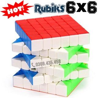 Rubik 6 tầng 6×6 đẹp xoay trơn không kẹt rít độ bền cao. Đồ chơi Rubik MF6rs 6x6x6 Stickerless Cube