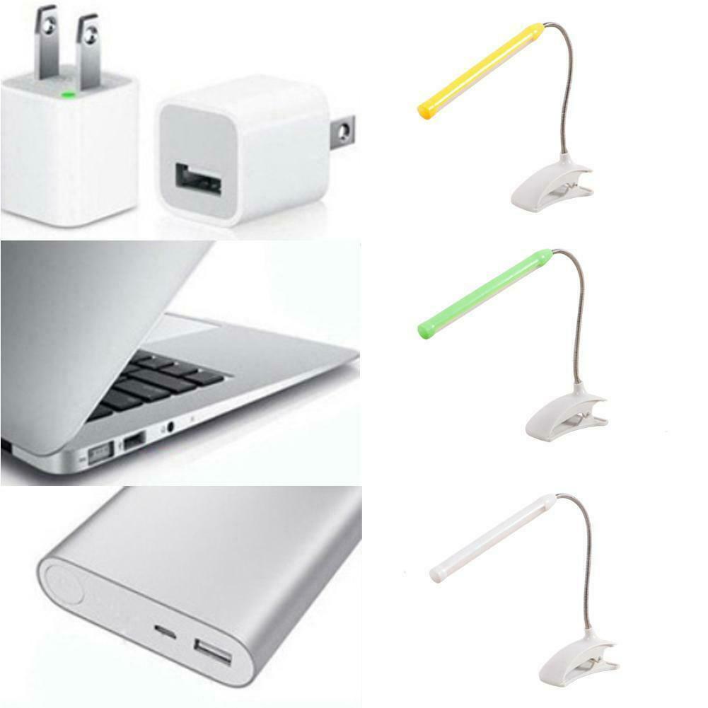 Clip On Flexible Desk Light Bebside Reading Lamp Table Study Touch USB Book LED M8X3