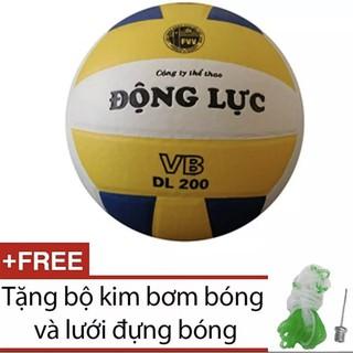 (CHÍNH HÃNG) Bóng chuyền Động Lực 3 màu DL200 + Tặng kim bơm+lưới đựng bóng