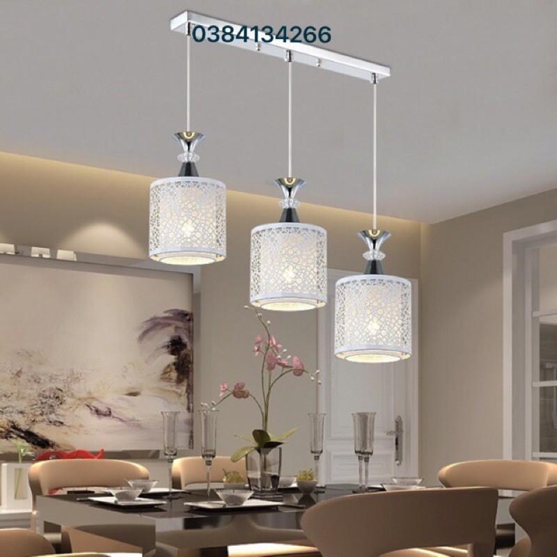 Đèn Thả Bàn Ăn 3 Chao - Tặng Bóng