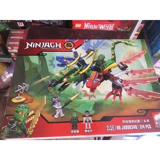 Lego Xếp Hình Ninjago Siêu Robot Rồng 2 Đầu Chiến Đấu – 314PCS