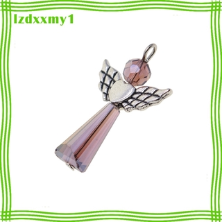 Kiddy 12 Pieces Angel Wing Alloy Acrylic Charms Pendant Jewelry Findings