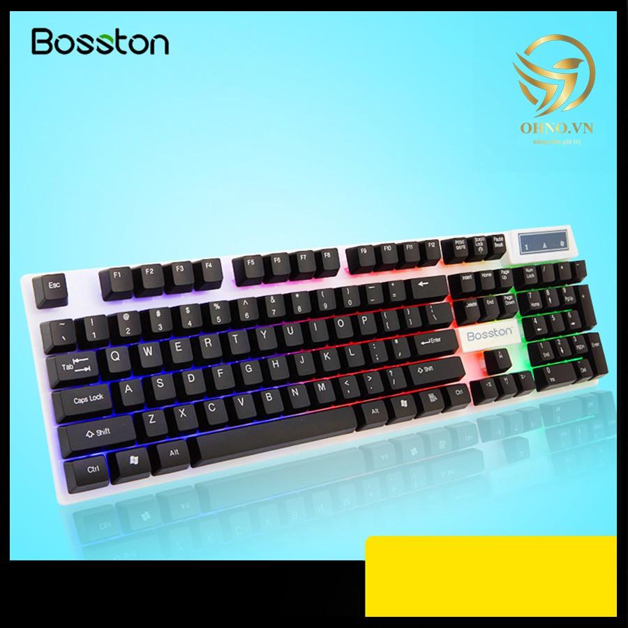 Bàn Phím Có Dây Đèn Led Bosston 808 Bàn Phím Máy Tính Chơi Game Giả Cơ Gaming – OHNO Việt Nam