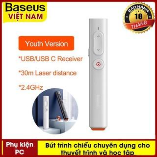 Bút Laser Tiện Dụng Baseus Dành Cho Trình Chiếu Powerpoint Điều Khiển Từ Xa 2.4ghz USB & USB C