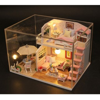 Mô hình nhà gỗ nhà búp bê Princess ( đã có mica che bụi)