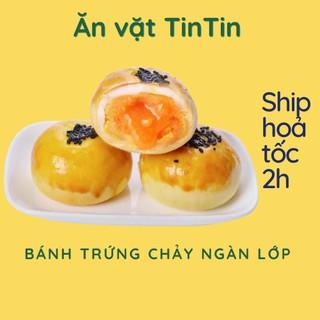 Bánh trứng muối tan chảy ngàn lớp Đài Loan date mới – Ăn vặt TinTin