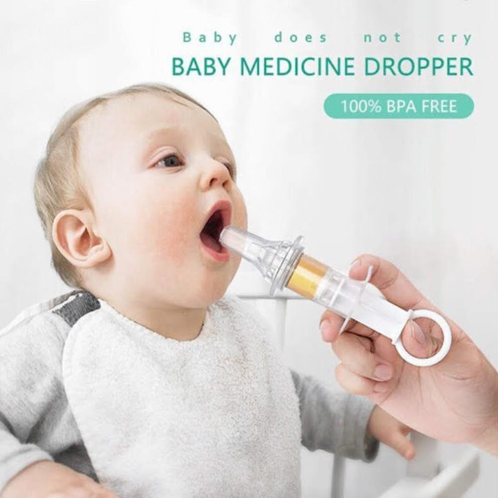 [CÓ CỐC CHIA VẠCH ML] Xilanh cho bé uống thuốc và sữa đầu silicon mềm