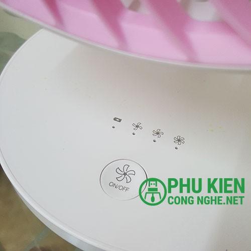 [DP SIÊU MÁT] Quạt sạc tích điện DP-7625 cao 25cm cao cấp pin 1500mah