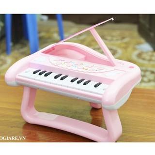 Đàn piano cho bé (màu hồng như hình), kèm MIC hát