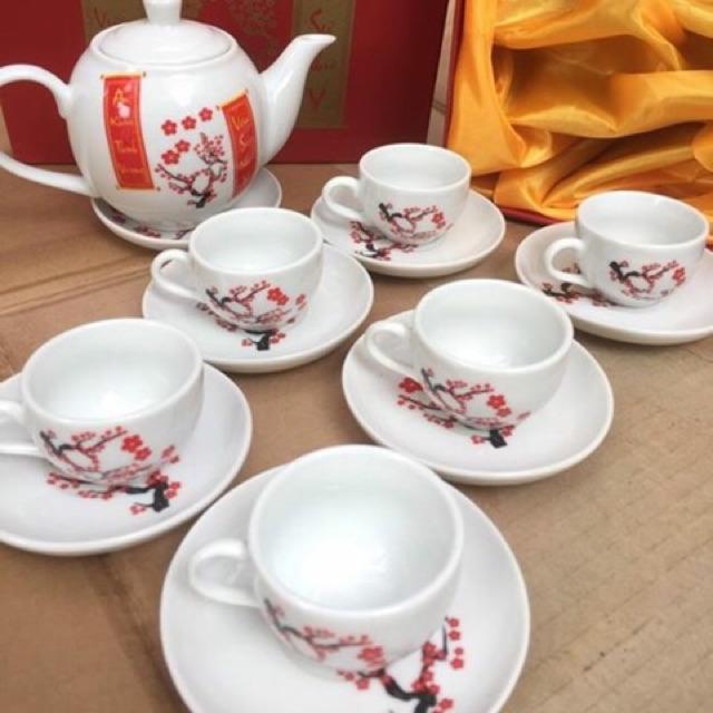 Bộ ấm trà Bát Tràng chào mừng năm mới