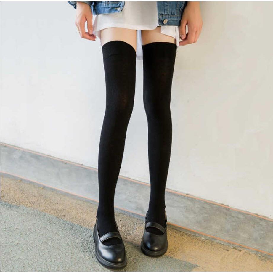 Tất, vớ đùi cao cổ dài 75cm Hàn Quốc loại dầy giữ ấm chân cho nữ