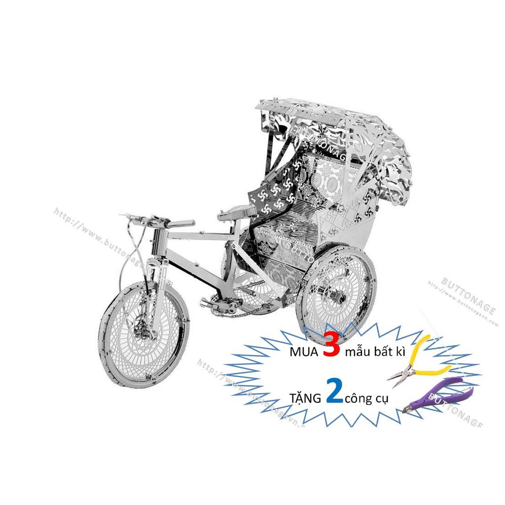 Mô Hình Lắp Ráp 3d Xe Xích Lô Kéo Cycle Trishaw